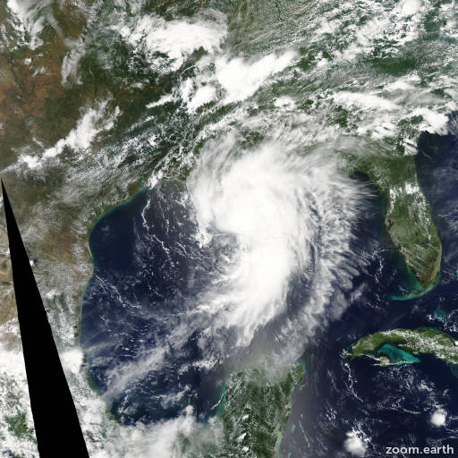 Satellite image of Hurricane Cindy 2005