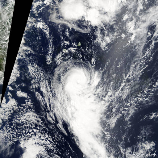 Satellite image of Storm Gerard 2005