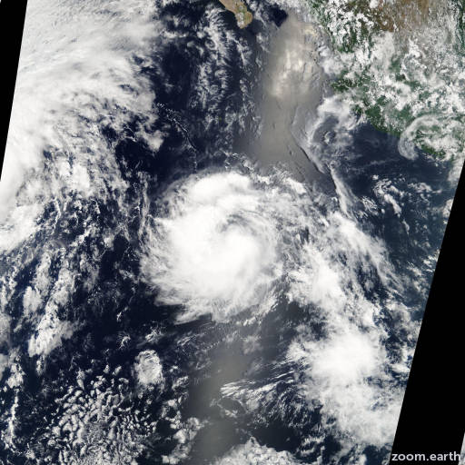 Satellite image of Storm Greg 2005