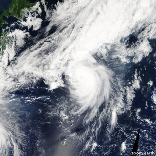 Satellite image of Storm Guchol 2005