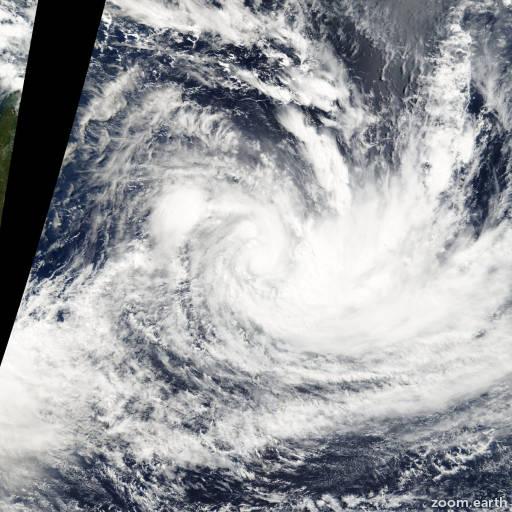 Satellite image of Storm Hennie 2005