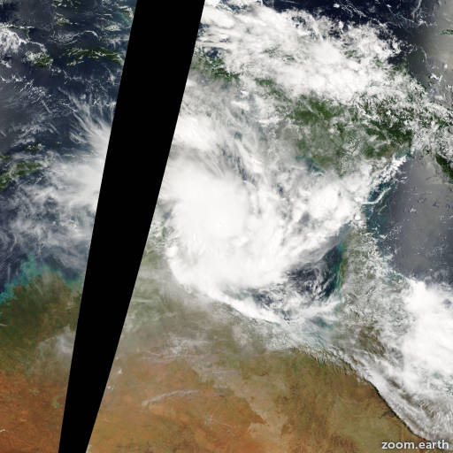 Satellite image of Cyclone Ingrid 2005