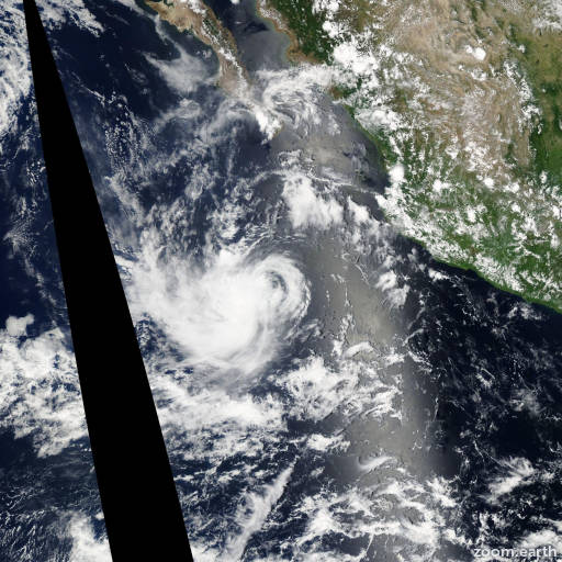 Satellite image of Storm Irwin 2005