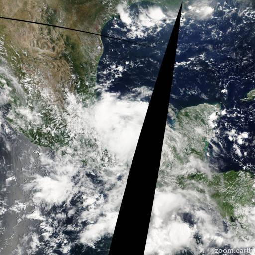 Satellite image of Storm Jose 2005