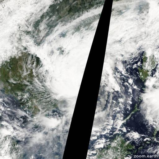 Satellite image of Typhoon Kai-Tak 2005