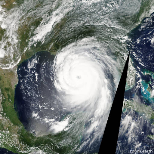 Satellite image of Hurricane Katrina 2005