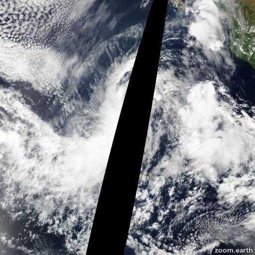 Satellite image of Storm Lidia 2005
