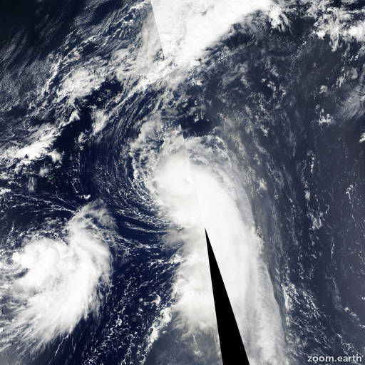 Satellite image of Hurricane Maria 2005