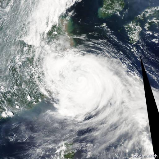 Satellite image of Typhoon Matsa 2005
