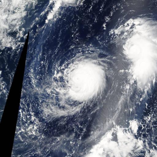 Satellite image of Typhoon Mawar 2005