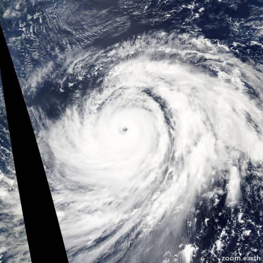 Satellite image of Typhoon Nabi 2005