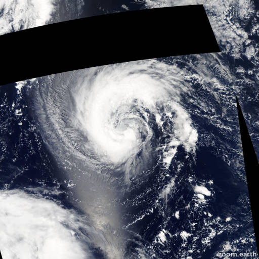 Satellite image of Storm Nalgae 2005