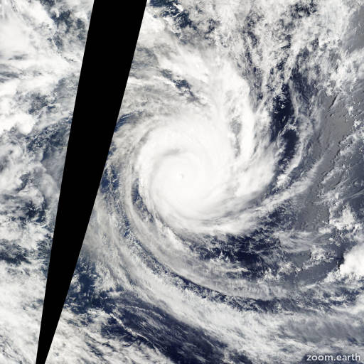 Satellite image of Cyclone Percy 2005