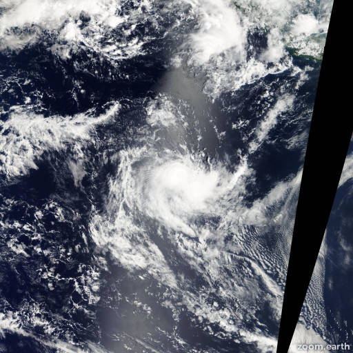 Satellite image of Cyclone Sally 2005