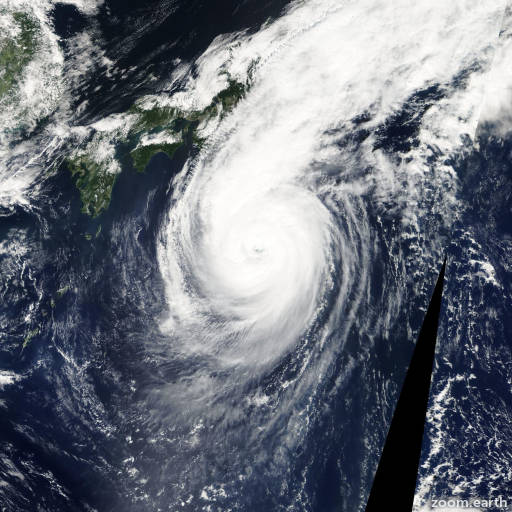 Satellite image of Typhoon Saola 2005