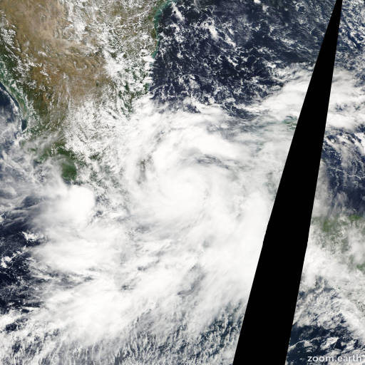 Satellite image of Hurricane Stan 2005