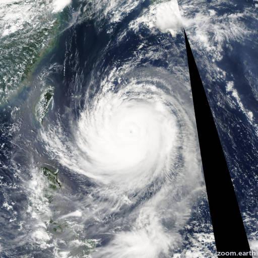 Satellite image of Typhoon Talim 2005