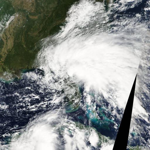Satellite image of Storm Tammy 2005