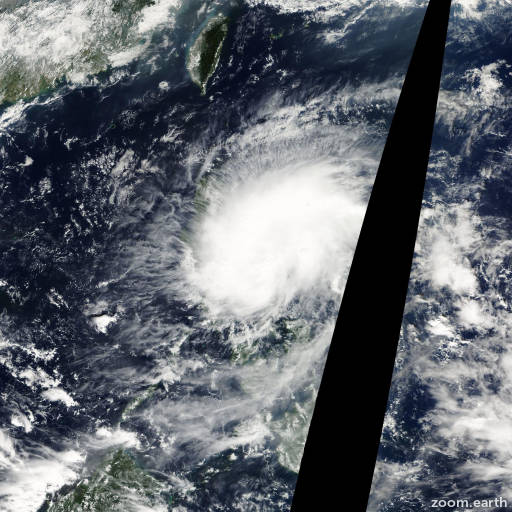 Satellite image of Storm Tembin 2005