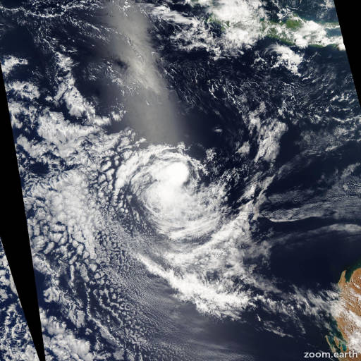 Satellite image of Cyclone Tim 2005