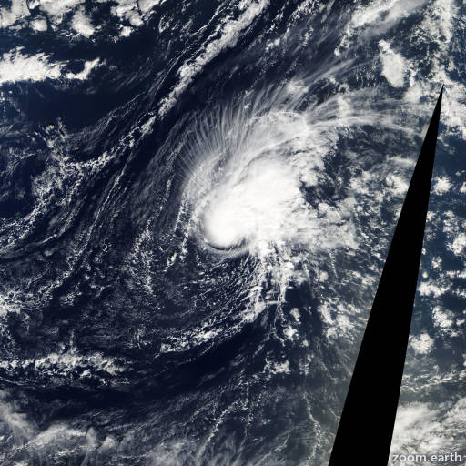 Satellite image of Storm Zeta 2005