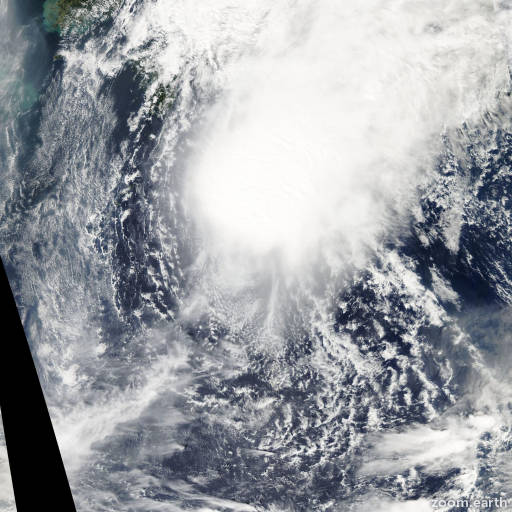Satellite image of Storm Bebinca 2006