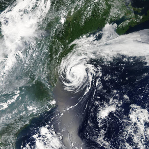 Satellite image of Storm Beryl 2006