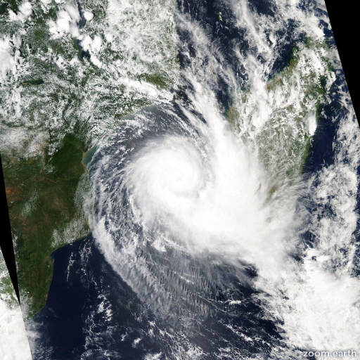 Satellite image of Cyclone Boloetse 2006