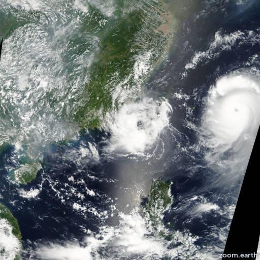 Satellite image of Storm Bopha 2006