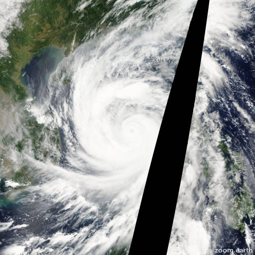 Satellite image of Typhoon Chanchu 2006