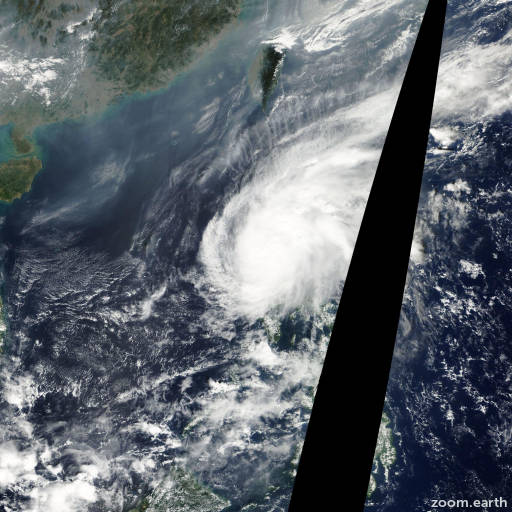Satellite image of Typhoon Chebi 2006