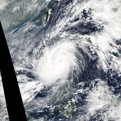 Satellite image of Typhoon Cimaron 2006