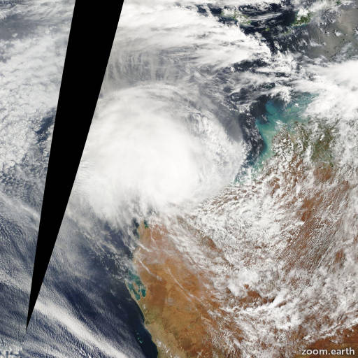 Satellite image of Cyclone Daryl 2006