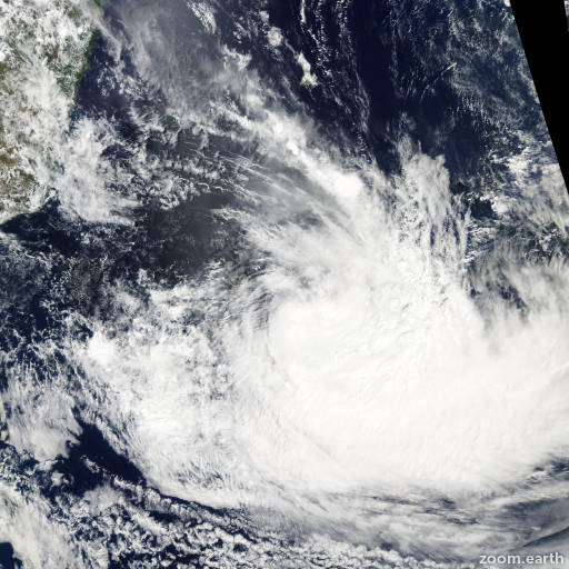 Satellite image of Storm Diwa 2006