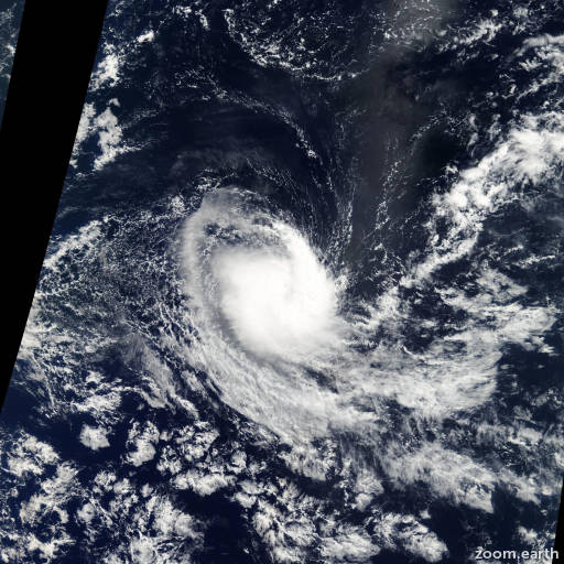 Satellite image of Storm Elia 2006