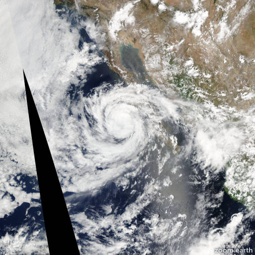 Satellite image of Storm Emilia 2006