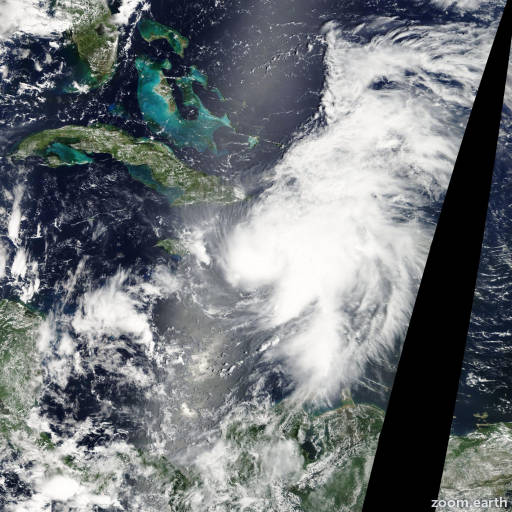 Satellite image of Hurricane Ernesto 2006