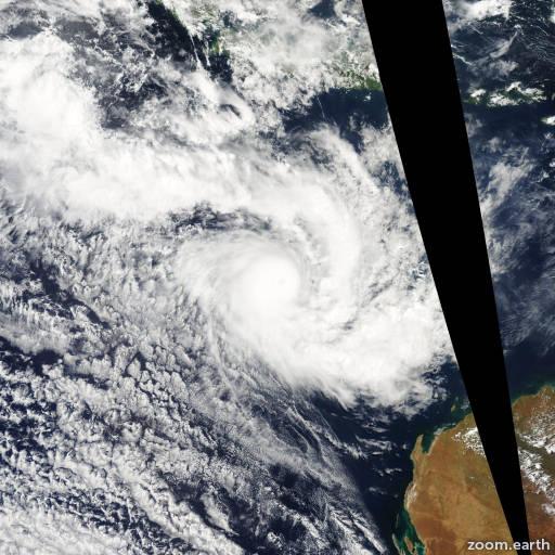 Satellite image of Cyclone Floyd 2006