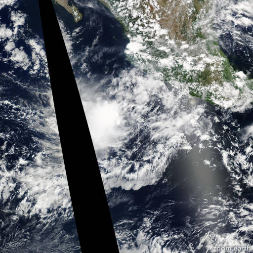 Satellite image of Storm Gilma 2006
