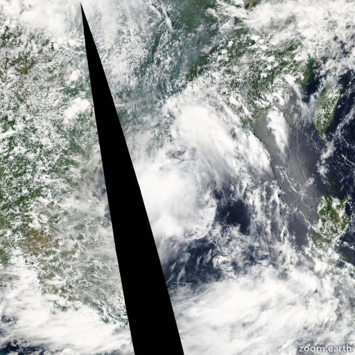 Satellite image of Storm Jelawat 2006