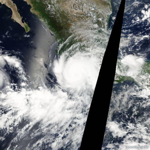 Satellite image of Hurricane John 2006