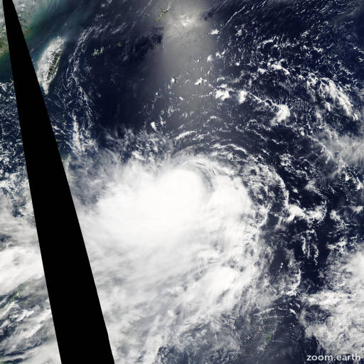 Satellite image of Typhoon Kaemi 2006