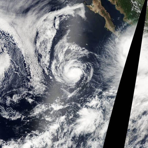 Satellite image of Hurricane Kristy 2006