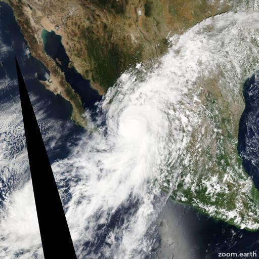Satellite image of Hurricane Lane 2006