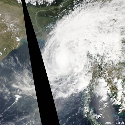 Satellite image of Cyclone Mala 2006