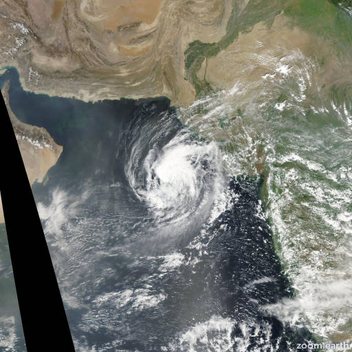 Satellite image of Cyclone Mukda 2006