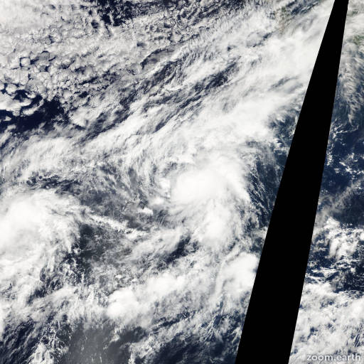 Satellite image of Storm Norman 2006
