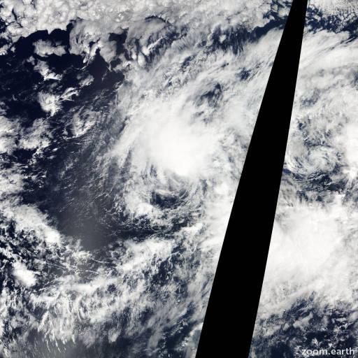Satellite image of Storm Olivia 2006