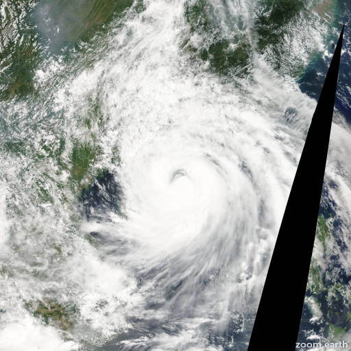 Satellite image of Storm Prapiroon 2006