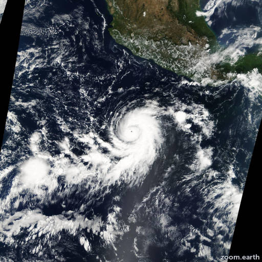 Satellite image of Hurricane Sergio 2006